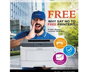 Why say no to FREE Printer?