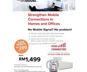 RM200 rebate for weBoost Connect 3G