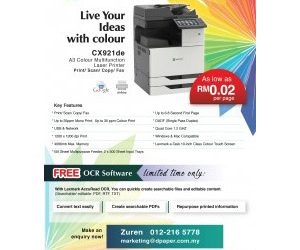 A3 Colour Laser Printer as low as RM0.02per page