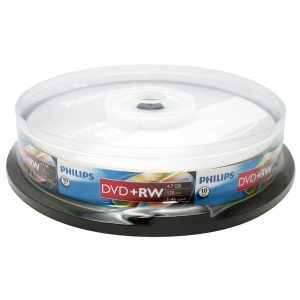 PHILIPS DVD+RW Video Data Storage Optical Media
