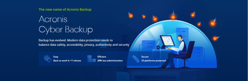 Acronis Cyber Backup Data Storage Backup Solutions