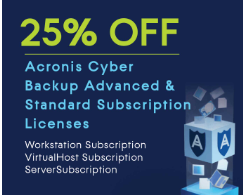 Acronis Cyber Backup Advanced & Standard Subscription Licenses